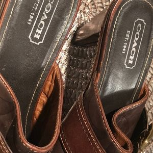 Coach Shoes - Coach Western Clogs ❤️❤️